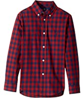 Polo Ralph Lauren Kids - Checked Cotton Poplin Shirt (Little Kids/Big Kids)