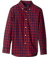 Polo Ralph Lauren Kids - Checked Cotton Poplin Shirt (Little Kids/Big Kids)