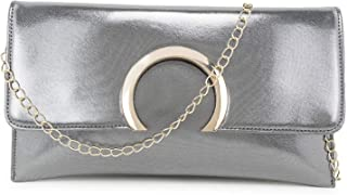 Lavenet PU Leather Clutch Wallet Purse for women, Silver