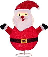 "LordofXMAS 30"" Lighted Collapsible Santa, Artificial Christmas Seasonal Decor Indoor Outdoor Holiday Yard Decorations, 2 C..."