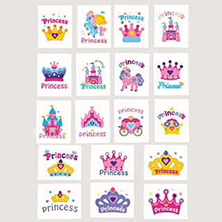 Baker Ross P5251 enhörning prinsessa tillfälliga tatueringar, kläder, för festväska fyllmedel och små leksaker för barn, b...