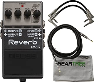 Boss RV-6 Digital Reverb Pedal w/Cloth and 3 Cables