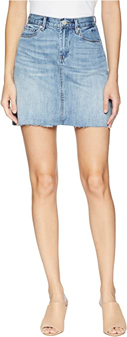 Denim Mini Skirt in Serengeti