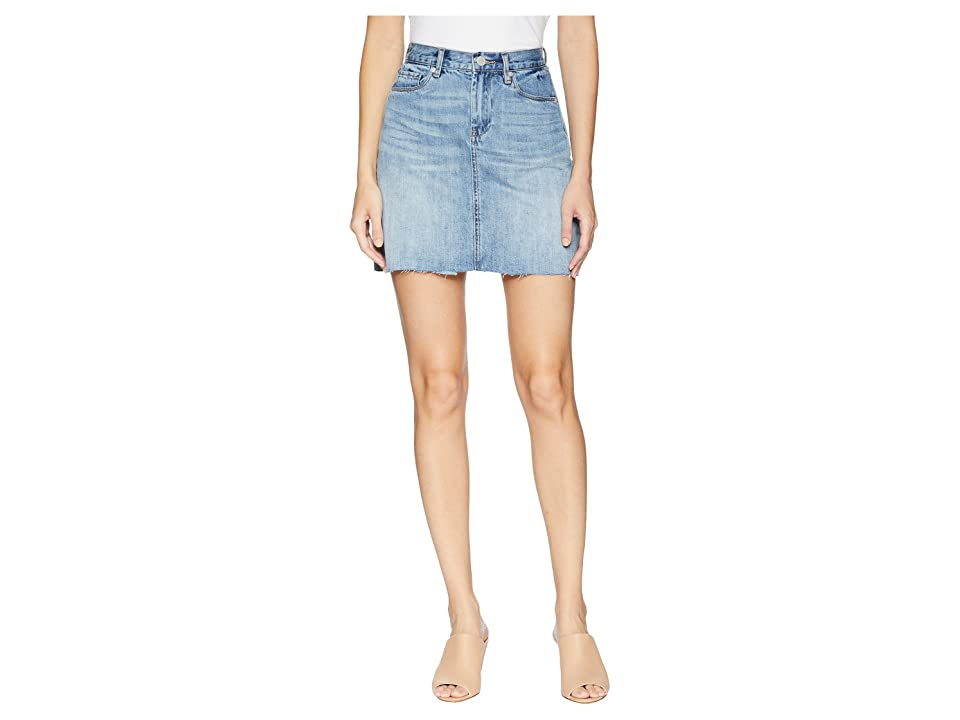 Blank NYC Denim Mini Skirt in Serengeti (Serengeti) Women