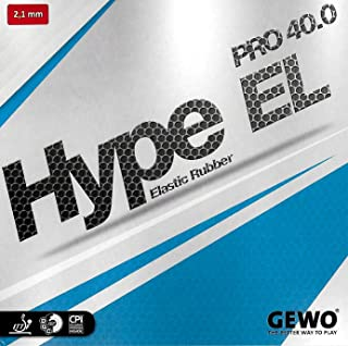 GEWO Hype EL PRO 40.0 Table Tennis Rubber, Red, 2.1 mm. Sponge Thickness