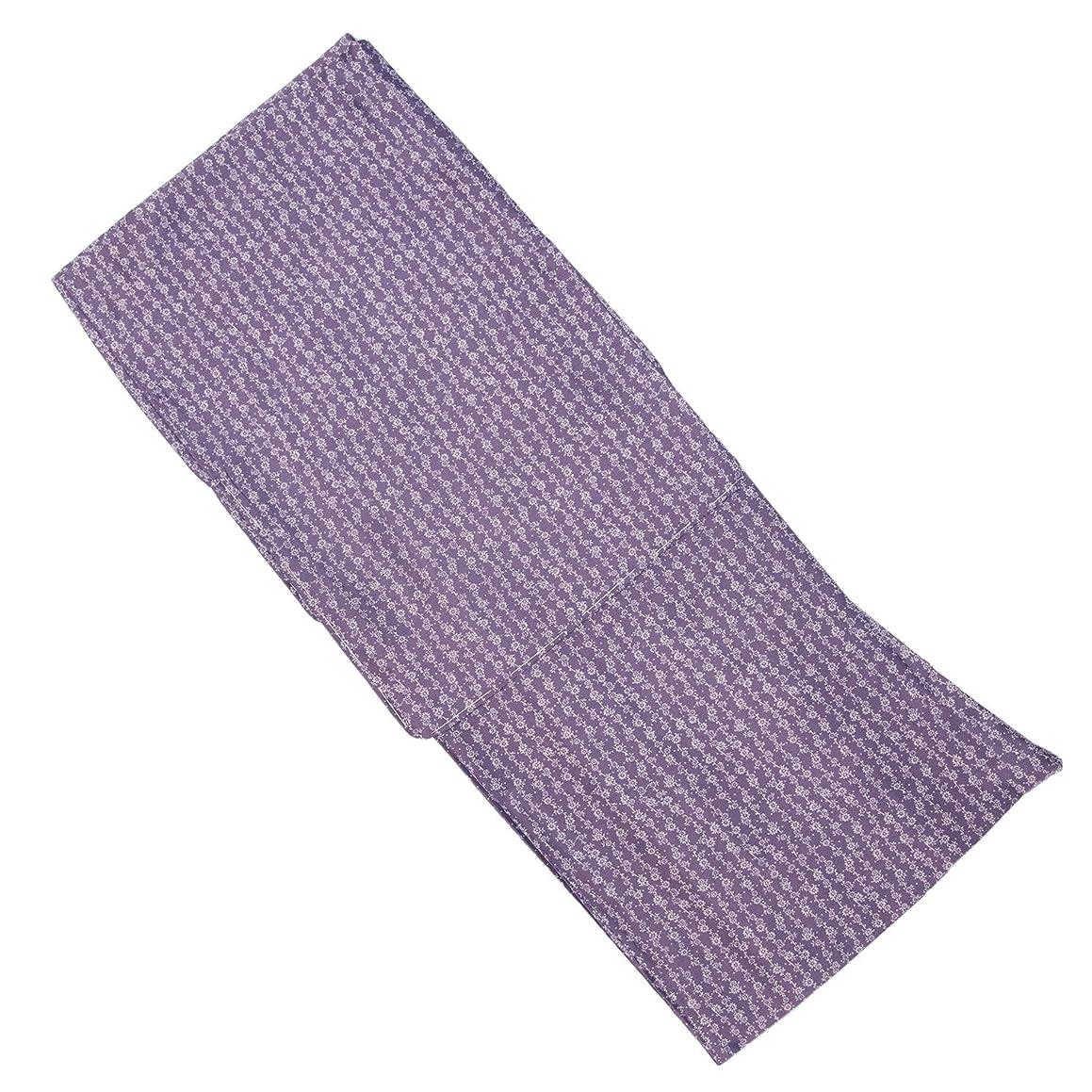 ふりをする薬用趣味[キョウエツ] 着物 江戸小紋 洗える 単衣 レディース (L, 藤×縞小紋)