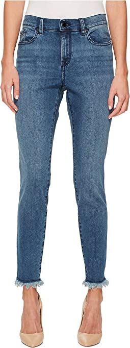 Ivanka Trump Denim Fringe Boot Leg Jeans in Vintage