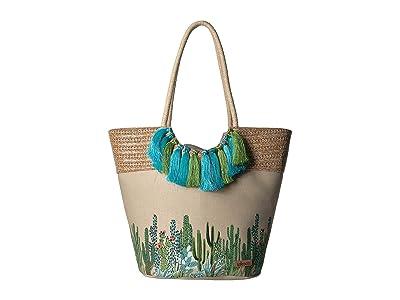 Sakroots Artist Circle Lola Beach Bag (Natural Mojave Mirage) Tote Handbags