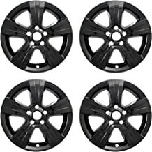 New Wheel Skin Covers Fits 2010-2012 Dodge Caliber 2010-2017 Jeep Compass 2011-2017 Jeep Patriot; Impostor (R); 17 Inch; 5 Spoke; Gloss Black; Plastic; Set of 4; Not Compatible with Steel Wheels
