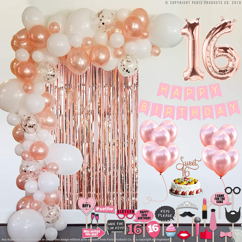 Sweet 16 Party Supplies 16th gold Decorations Birthday Superlatite Rose Popular