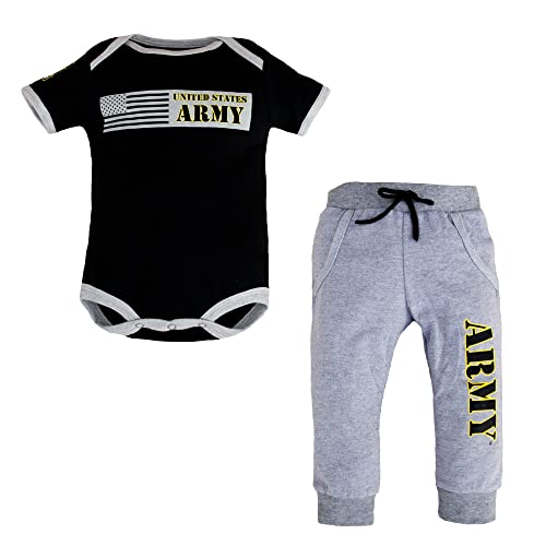 HappyLifea Army Nurse Corps Logo Baby Pajamas Bodysuits Clothes Onesies Jumpsuits Outfits Black