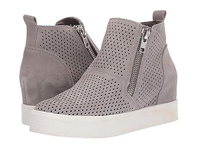 Steve Madden Wedgie-P Sneaker (Light Grey Suede) Women