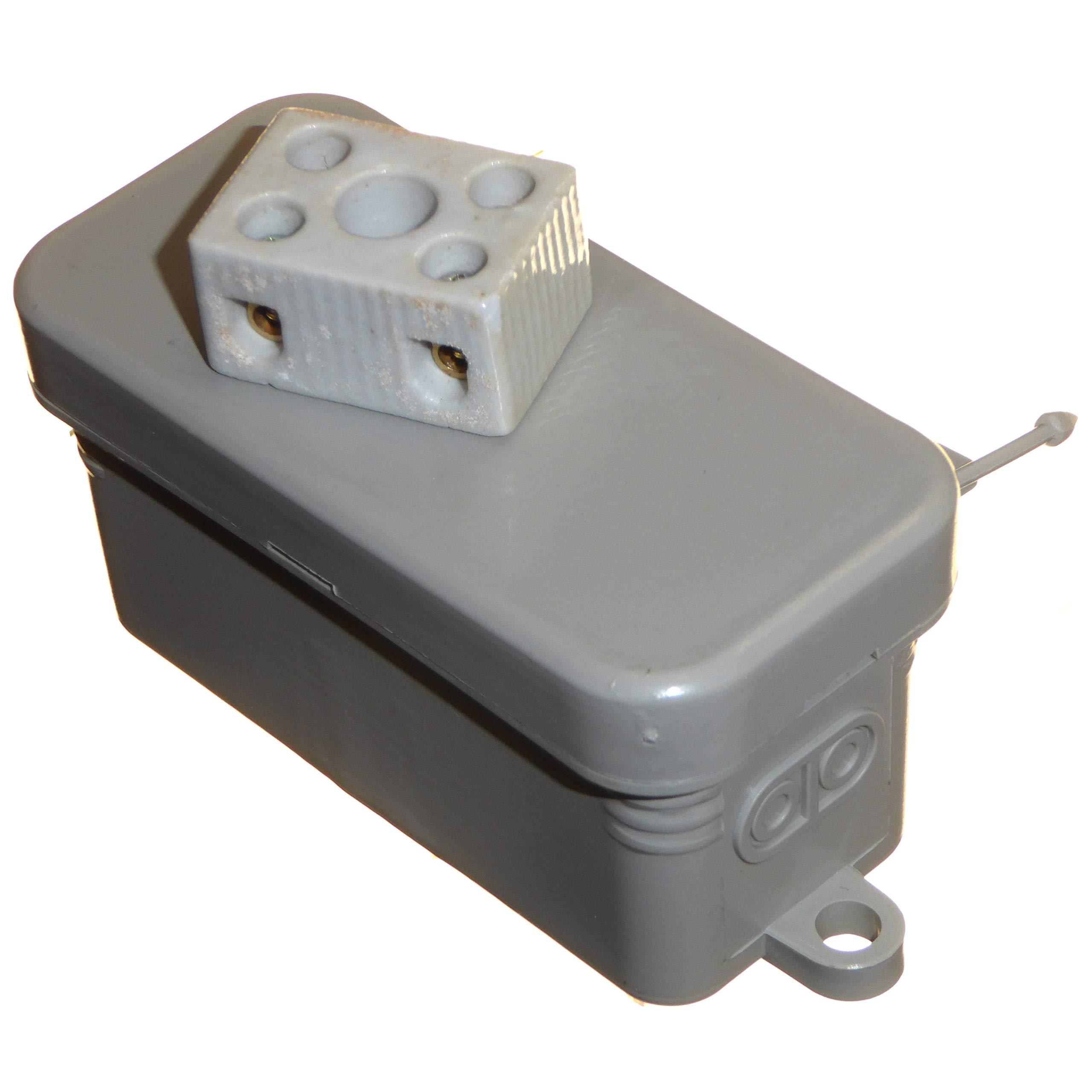 Caja de conexiones eléctrica termoplástica pequeña con conector de porcelana, ideal para conexiones de cableado de calefacción IP44, para interiores o exteriores, 5 unidades: Amazon.es: Bricolaje y herramientas