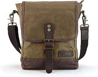 SHANGRI-LA Messenger Bag for Men and Women Waxed Canvas Purse Waterproof Crossbody Shoulder Satchel Bag Sling Pack
