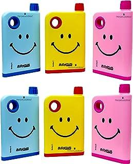 Perpetual Bliss Fancy Notebook Style Smiley Theme Water Bottle/Memo Bottle/Flat/Portable/Slim Bottle/Return Gifts for Kids...