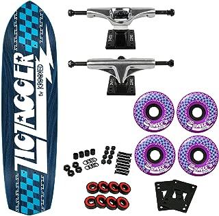 Krooked Skateboard Complete Zip Zagger RGB Blue 8.62