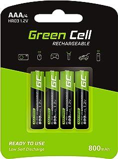 Green Cell 4X AAA 800mAh 1.2V Juego de 4 Pilas Recargables