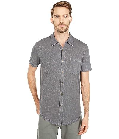 Mod-o-doc Montana Short Sleeve Button Front Shirt (Titanium) Men