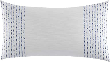 Nautica Langford French Knot 14x26 inch Throw Pillow, 14 x 26, Blue