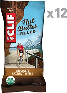 Clif Nut Butter Filled - Organic Snack Bars - Chocolate Hazelnut Butter - (1.76 Ounce Protein Snack Bars, 12 Count)