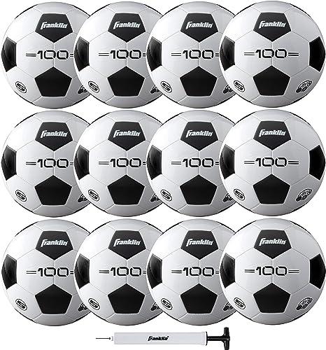 Franklin Sports Soccer Balls - Size 3, Size 4, Size 5 Traditional Soccer Balls - Youth and Adult Soccer Balls - Bulk ...