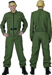 60ddb154d4 Costume di carnevale adulto divisa americana tuta da pilota da caccia  aeronautica militare americana taglia 48