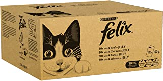 Felix Mixed Selection in Jelly Cat Food, 120 Pouches, 120 x 100g