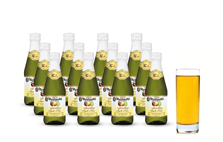 Martinelli's Gold Medal Sparkling Apple-Pear Juice, 8.4 fl oz. Pack of 12 Bottles | Non-Alcoholic Drink