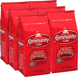 Community Coffee Community Coffee - Café de Olla Flavored Medium Roast - Premium Ground Coffee - 12 oz Bag (Pack Of 6), Café de Olla, 72 oz