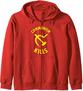 Communism Kills   - Anti-Communist Free Markets Zip Hoodie