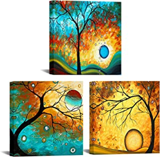 Modern Abstract Tree Painting Wall Art Decor Colorful Tree of Life Oil Painting Canvas Prints Framed Landscape Picture Hom...