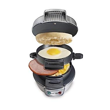Hamilton Beach Breakfast Sandwich Maker, Silver (25475A)