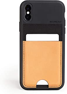 Moment Wallet Case for iPhone Xs - Slim, Credit Card Carrying, Strap Attachment