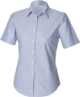 Henbury Womens/Ladies Short Sleeve Classic Oxford Work Shirt