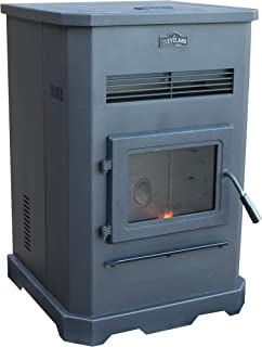 Cleveland Iron Works PS130W-CIW Pellet Stove, Black