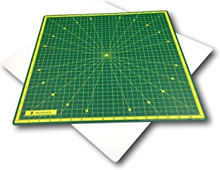Skyhawk Self-Healing 18-Inch-by-18-Inch 360° Rotating Cutting Mat for Quilting with 17