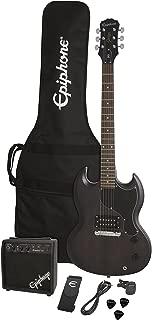 Epiphone SG Junior Electric Guitar Player Pack, Worn Black