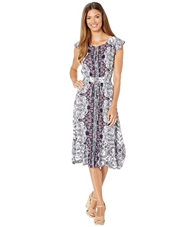 Lucky Brand Felicia Dress (Purple Multi) Women