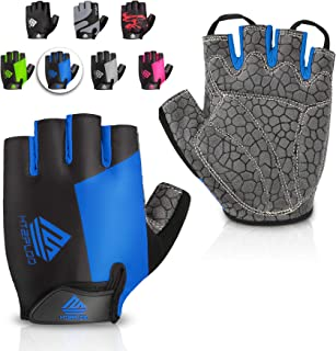 HTZPLOO Bike Gloves Cycling Gloves Mountain Bike Gloves for Men Women with Anti-Slip...