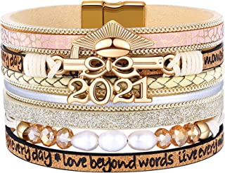 Class of Seniors Graduation Gifts for Her 2021 Bracelets, Perfect College High School Masters Graduate Gifts for Her Teen ...