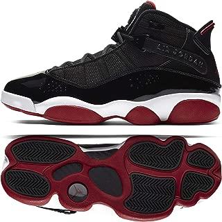 Jordan Nike Men's 6 Rings Leather Basketball Shoes