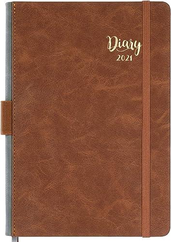 Agenda 2021 A5 Page a Day - Daily Planner 2021, Agenda 2021 Journalier, janvier 2021 - décembre 2021, 14,8 cm × 21,4 ...
