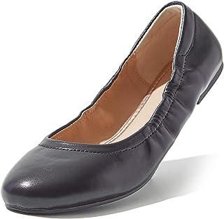 حذاء بدون كعب مريح وناعم بمقدمة مستديرة مسطح سهل الارتداء للسيدات من DailyShoes