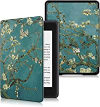 DHZ Case for Kindle Paperwhite 10th Generation 2018 New Version(no fits 2012-2017 All Paperwhite Old Model) - The Lightest Pu Leather Cover for All-New Amazon Kindle Paperwhite 2018,Apricot Flower
