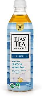 Teas' Tea Unsweetened Jasmine Green Tea 16.9 Ounce (Pack of 12) Organic, Sugar Free, 0 Calories