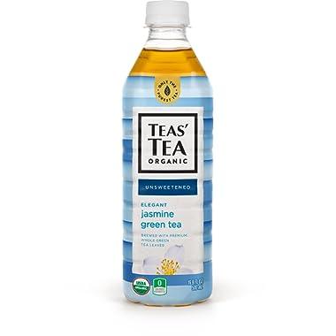 Teas' Tea Organic Iced Tea, Jasmine Green Tea, 17 Ounce (Pack of 12)