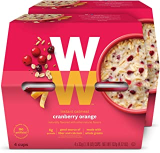 WW Cranberry Orange Instant Oatmeal - 3 SmartPoints - 2 Boxes (8 Count Total) - Weight Watchers Reimagined