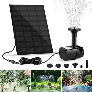 yotame Solar Springbrunnen, Solarpumpe Teichpumpe mit 1.8W Solar Panel Garten Wasserpumpe mit 4 Effekte Solar schwimmender...