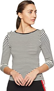 ONLY Women Striped Slim Fit T-Shirt