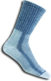 Thorlo mens Thorlo Men's Lth Light Hiking Padded Crew Sock Hiking Socks - blue - Large